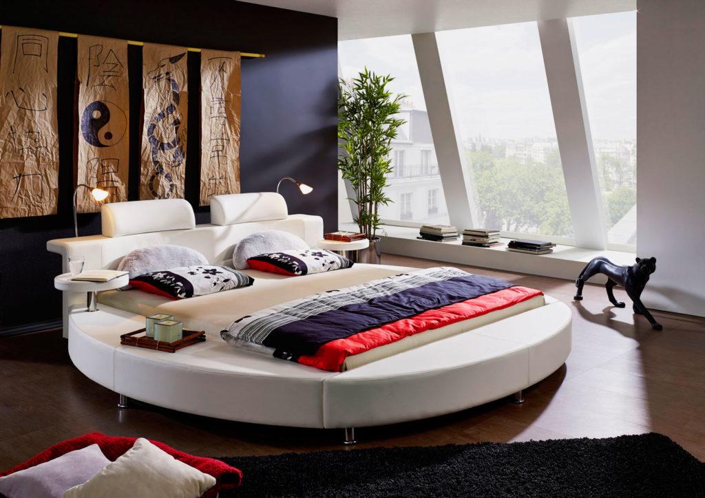 Фото круглой кровати в спальне