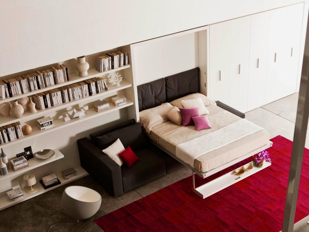Фото двуспальной кровати трансформера с диваном