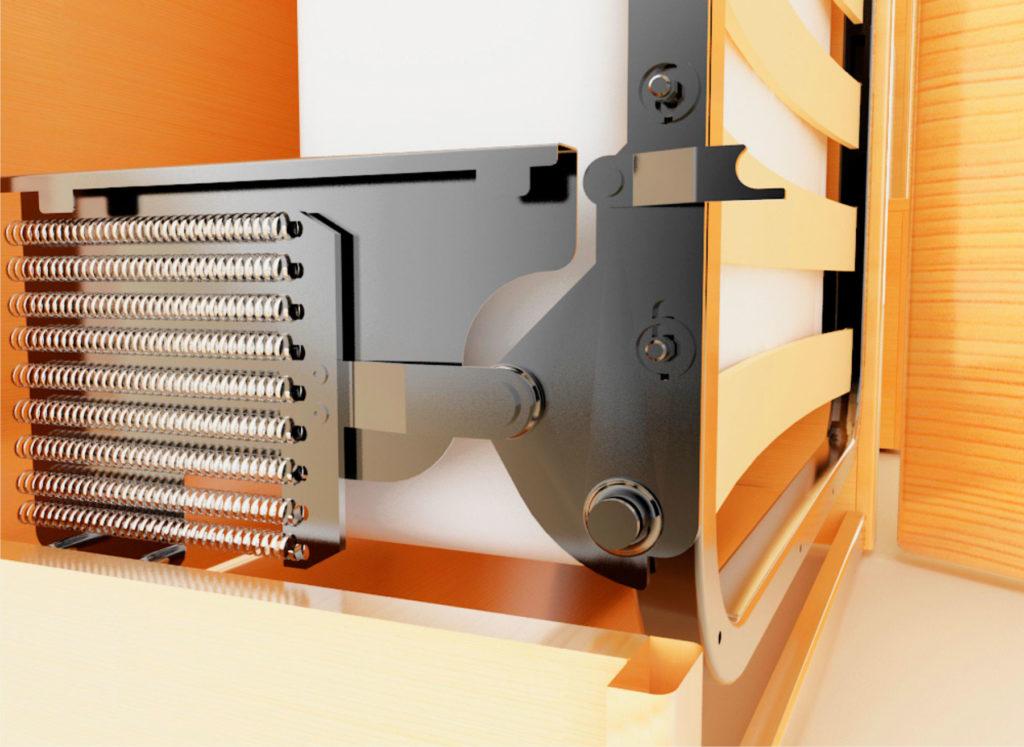 Фото подъёмного механизма откидной шкаф-кровати