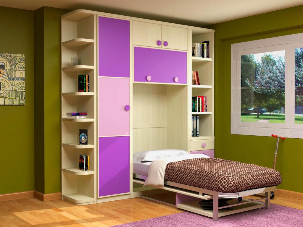 Шкаф кровать 3 в 1 со столом