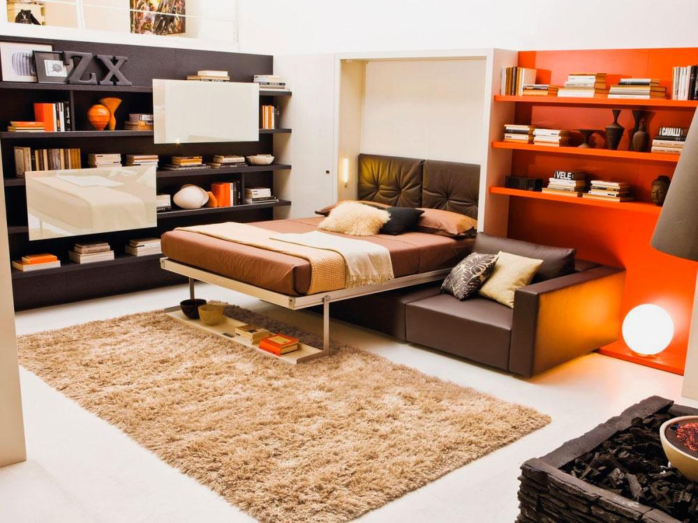Откидная шкаф кровать с диваном 3 в 1