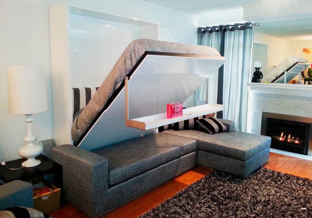 Откидная двуспальная кровать с вертикальной системой трансформации
