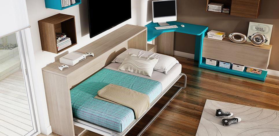 Кровать-комод в интерьере маленькой комнаты