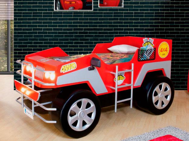 Детская кровать машина в виде Джипа
