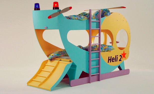 Двухъярусная кровать-вертолёт для детей