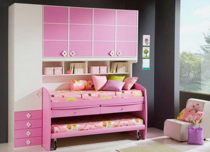 Кровать-матрешка для девочек