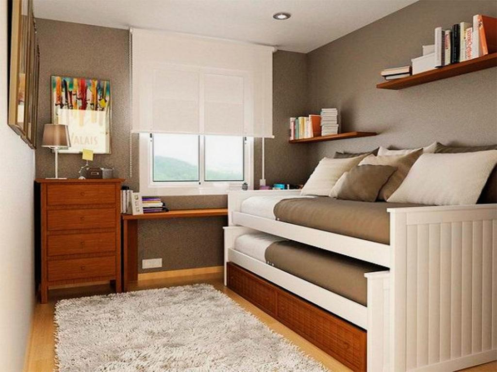 Двухъярусная кровать-матрешка с выдвижным нижним спальным местом