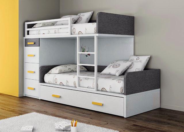 Двухэтажная кровать для мальчиков с выдвижными ящиками