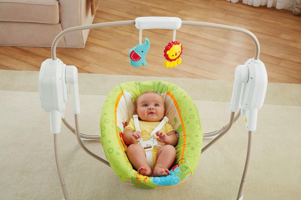 Электронная люлька качалка с младенцем