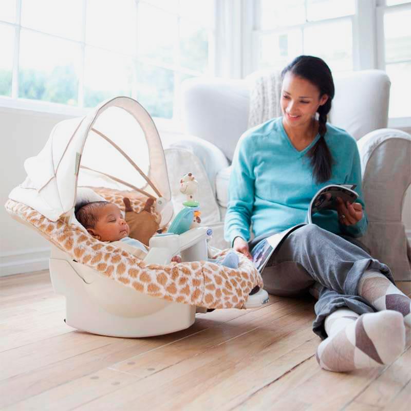 Мобильная электронная люлька для младенцев
