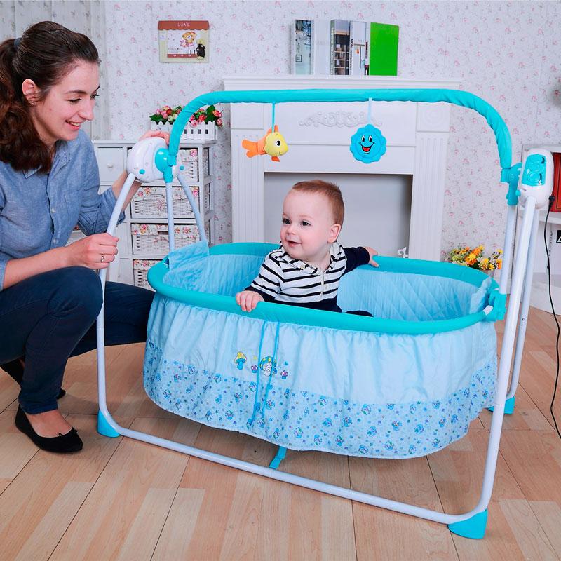 Большая электронная люлька для младенцев с питанием от сети