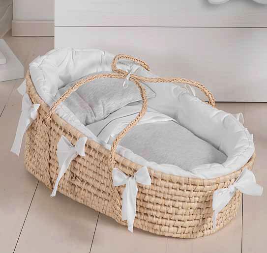 Плетеная переносная колыбель для младенца