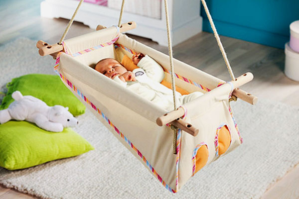 Фото подвесной колыбели для грудного ребенка