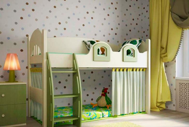 Фото детской комнаты с кроватью-чердаком в итерьере