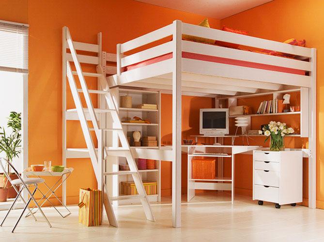 Двуспальная кровать-чердак для взрослых