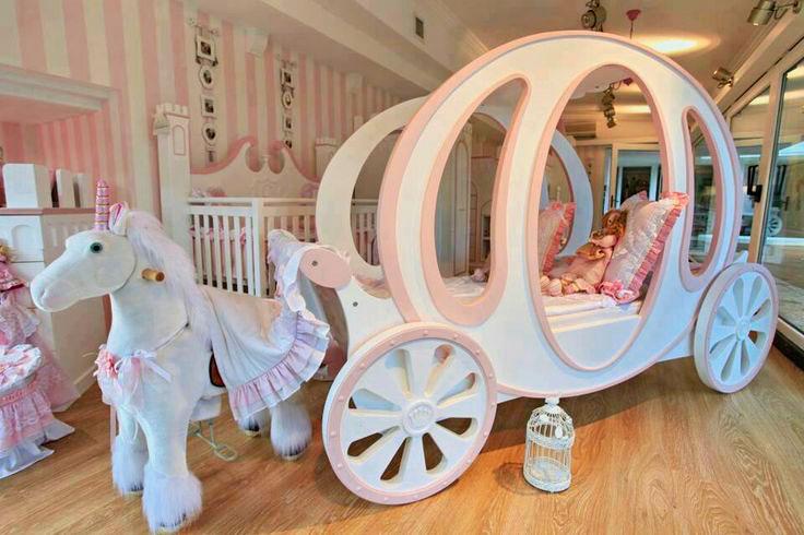 Кровать для девочки в виде кареты