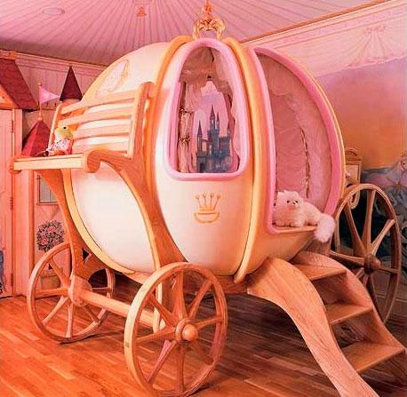 Кровать в форме круглой кареты