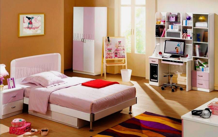 Фото детской комнаты девушки подростка с кроватью в интерьере