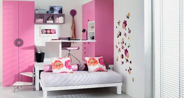 Выдвижная кровать-подиум для девочек