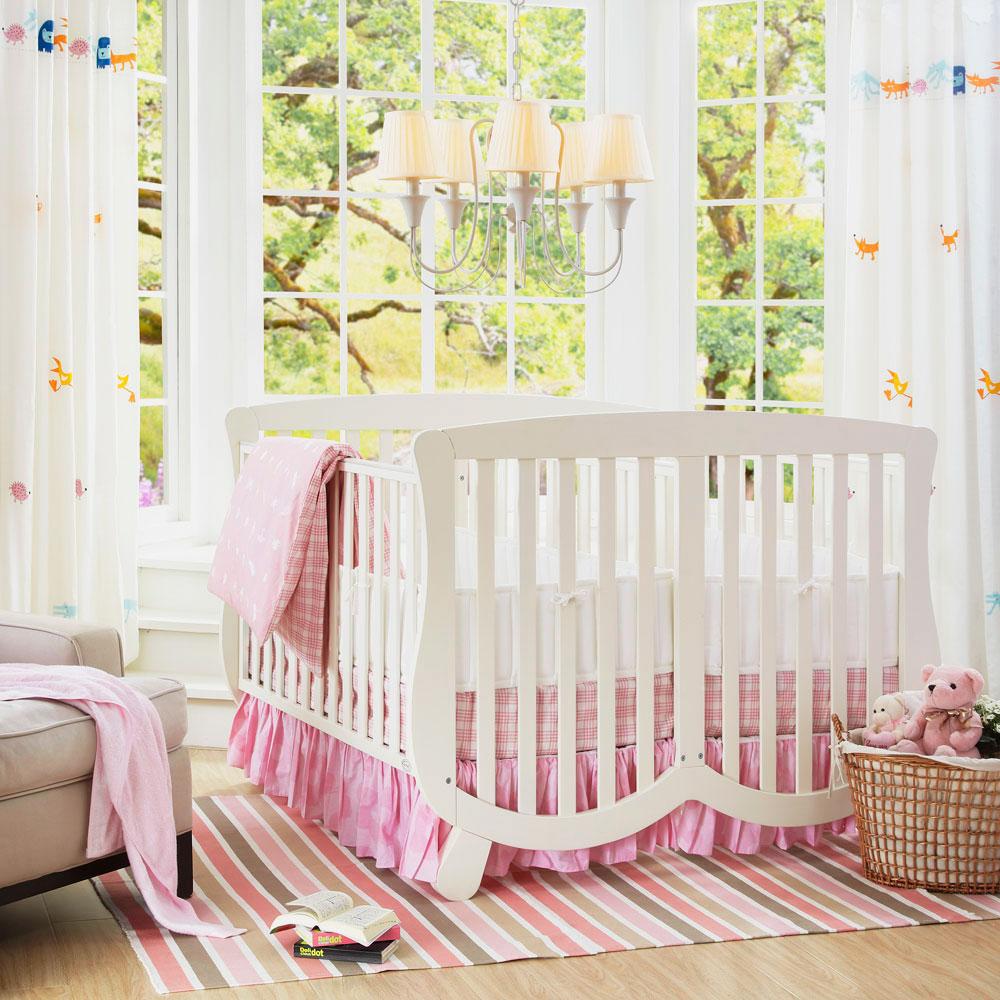 Смежная кроватка для двоих новорожденных
