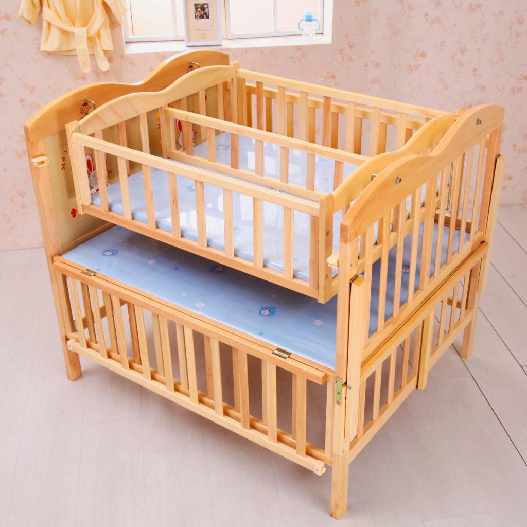 Фото трансформируемой кроватки для двойняшек