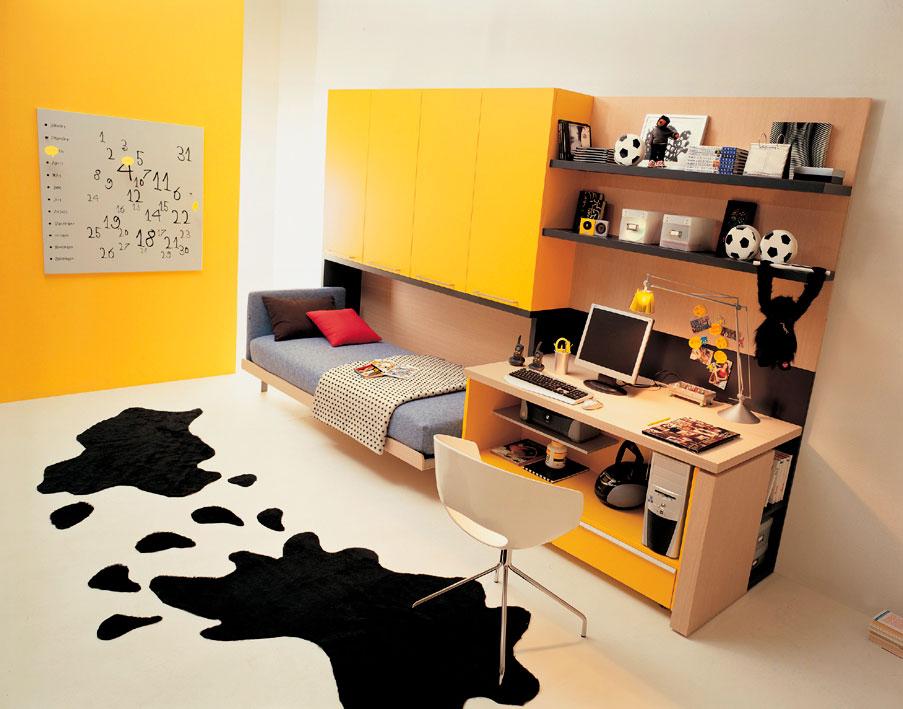 Комод-кровать трансформер в интерьере комнаты подростка