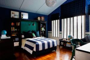 Фото комнаты мальчика подростка с кроватью в интерьере