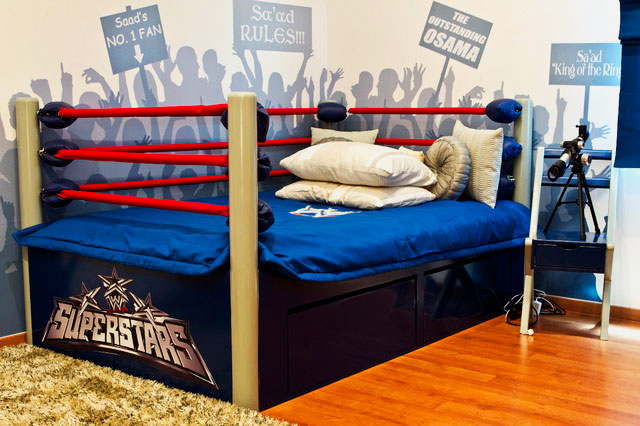 Фото кровати для мальчика подростка в виде ринга