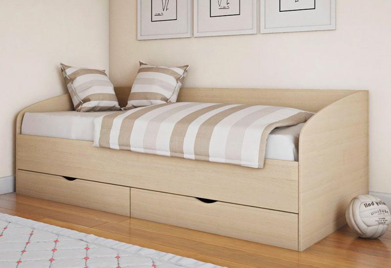 Кровать-кушетка со спинкой для подростков