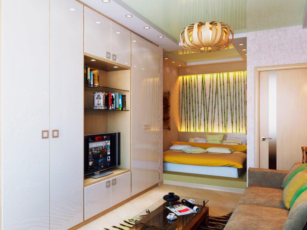 Кровать расположенная в выступе в стене