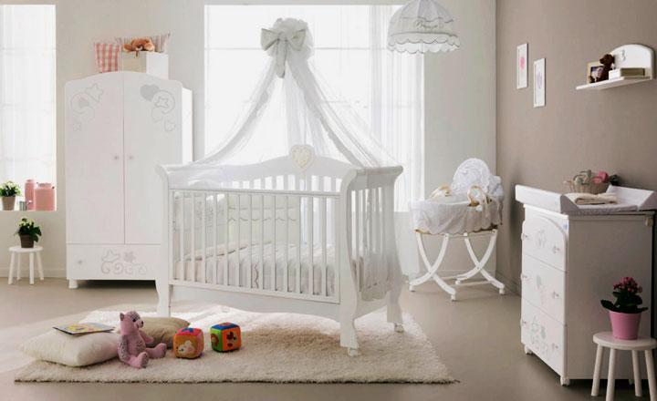 Фото кроватки для новорожденного с балдахином