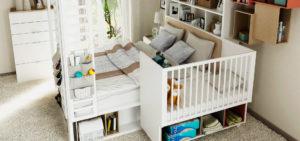 Фото детской приставной кроватки в интерьере
