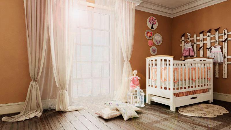 Фото детской кроватки с маятниковой системой качания