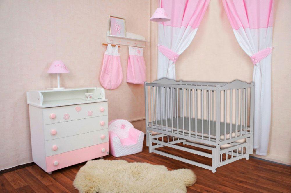 Интерьер детской комнаты с маятниковой кроватью