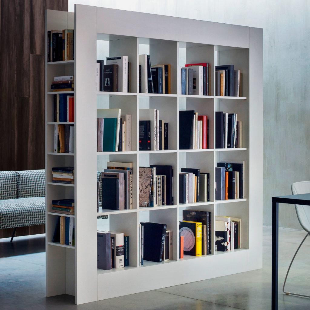 Книжный шкаф зонирующий комнату