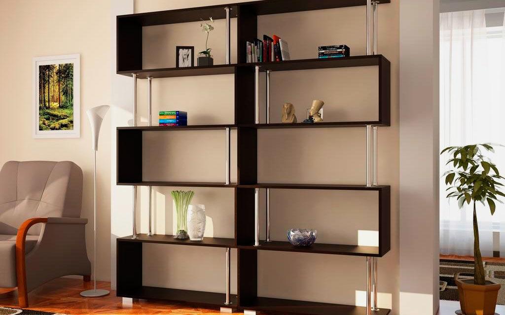 Шкаф для книг открытого типа в современном стиле