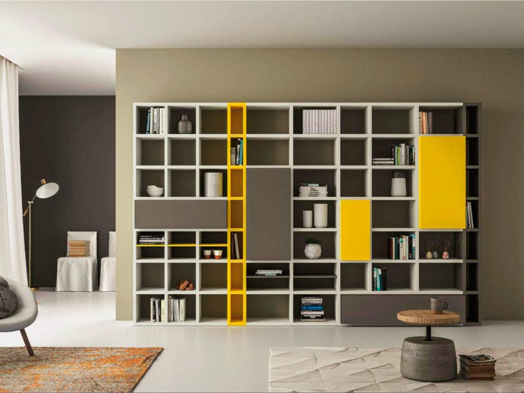 Книжный шкаф с фасадом открытого типа