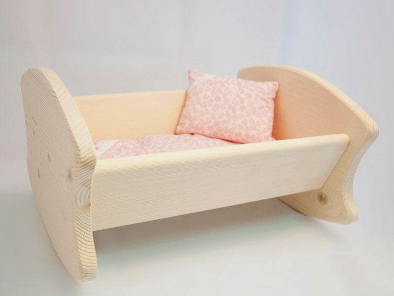 Деревянная люлька качалка для младенца