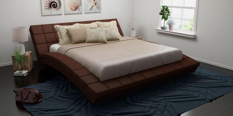 Мягкая кровать с изогнутым каркасом