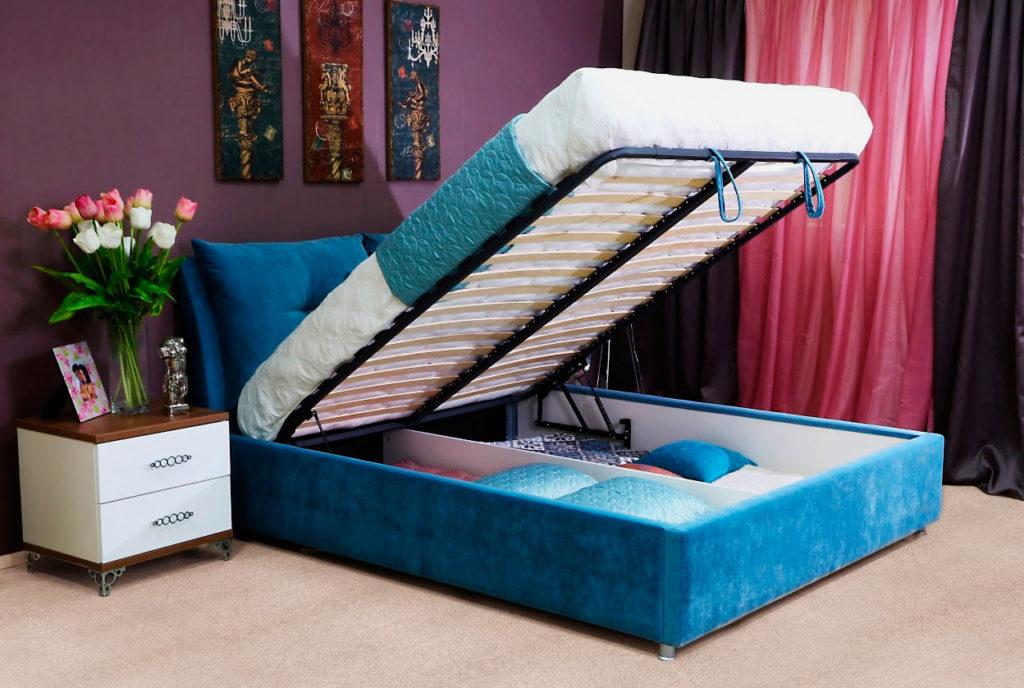 Фото кутаной кровати с подъёмным ортопедическим основанием