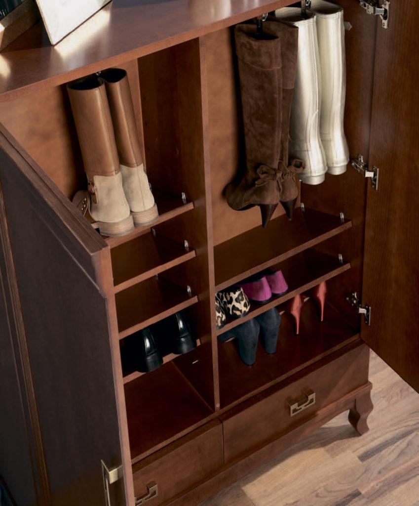 Фото внутреннего наполнения шкафа для обуви