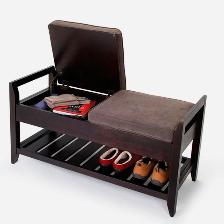 Банкетка с полкой для обуви и подъёмным сидением