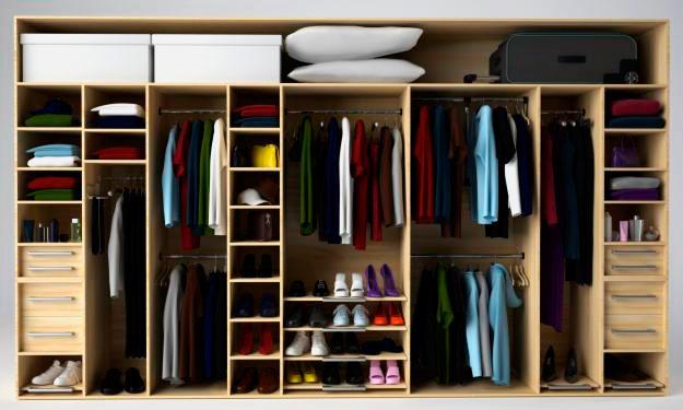 Встроенные шкафы для одежды фото