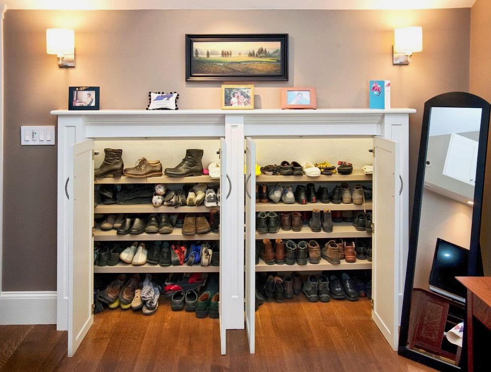 Шкаф для обуви с распашными дверьми