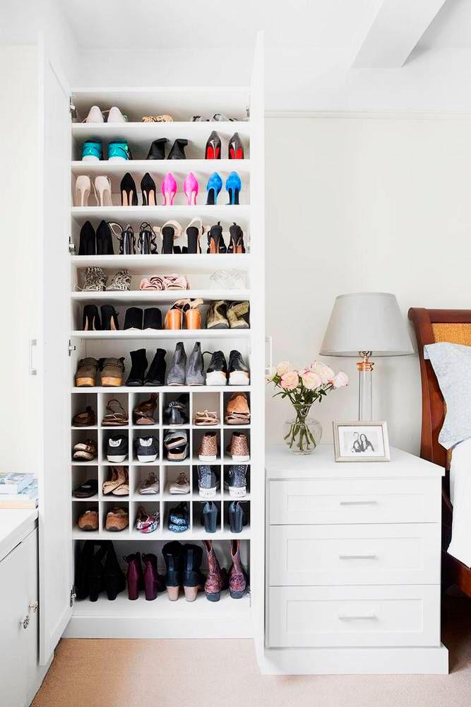 Распашной обувной шкаф