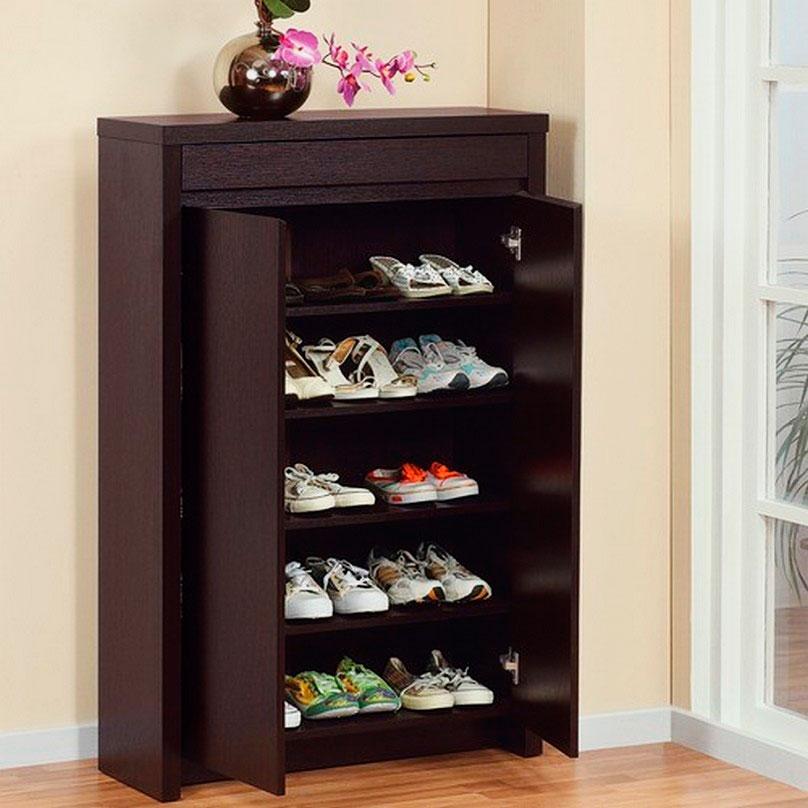 Распашной шкаф для обуви в прихожую