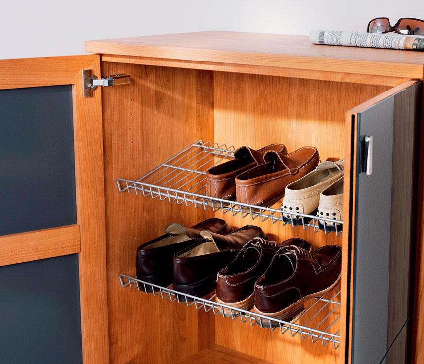 Обувной шкаф с сеткой