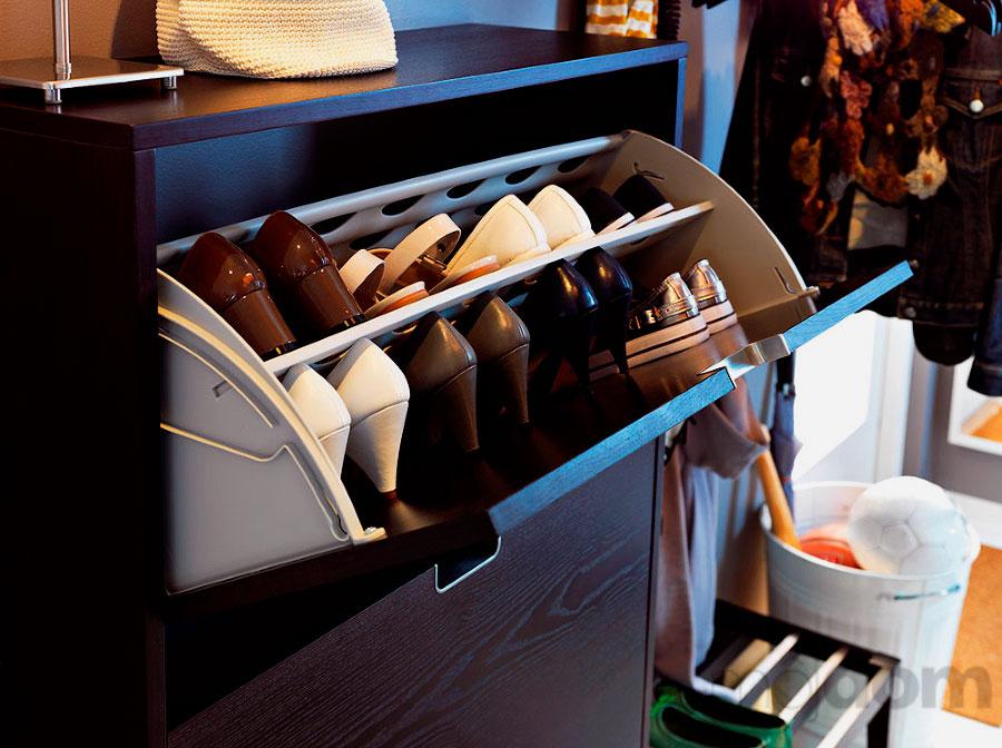 Фото откидной системы хранения обуви