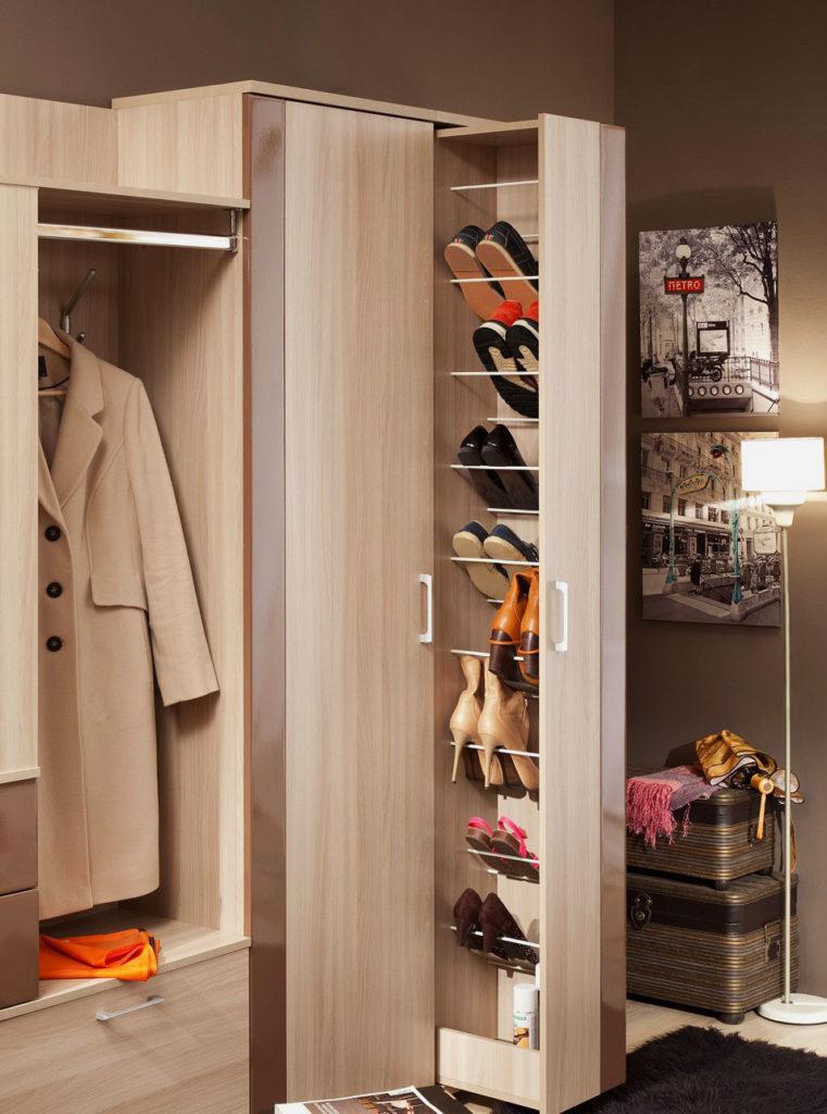 Фото шкафа для хранения обуви с выдвижной системой хранения