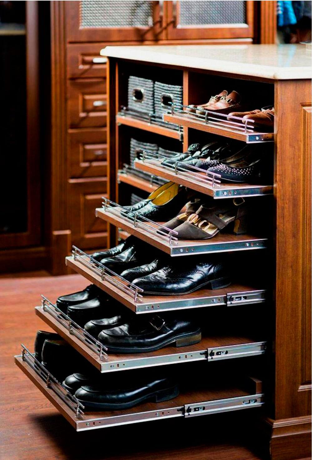 Полки для обуви в прихожую (62 фото): металлические подставк.